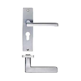 Zoo Venice Lever - Euro Lock - Satin Chrome - ZPZ071EPSC