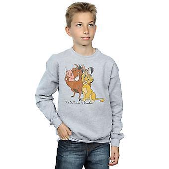 Disney pojkar Lion King Classic Simba, Timon och Pumbaa Sweatshirt