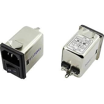 EMI filter + switch, + IEC socket 250 Vac 6 A 0.7 mH