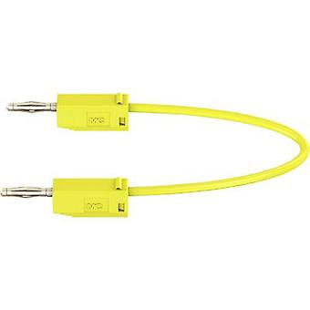 Test lead 0.15 m Yellow Stäubli LK205