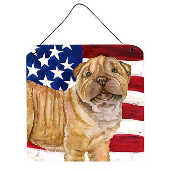 Shar Pei Puppy Patriotic Wall or Door Hanging Prints