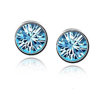 Womes Stud boucles d'oreilles bijoux bleu ciel