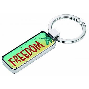 Troika 2 Sided Freedom Key Ring - Multi-colour