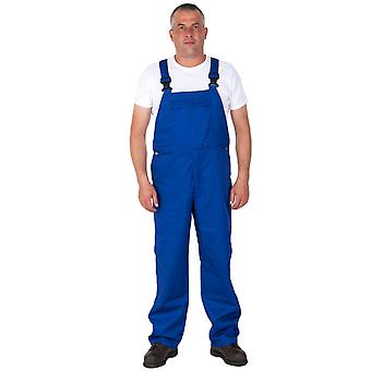 Basic Bib and Brace - Royal Blue Mens Work Bib Overalls Industrial