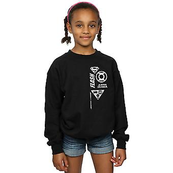 DC Comics Girls Justice League Brust Symbole Sweatshirt
