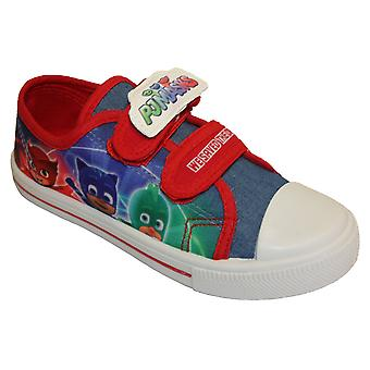 PJ Masks Boys Platanar Cartoon Touch Close Low-Top Shoes