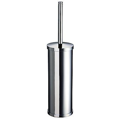 Outline Freestanding Toilet Brush - Polished Chrome & Glass FK103
