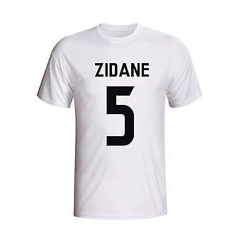 Zinedine Zidane Real Madrid helten T-shirt (hvit)