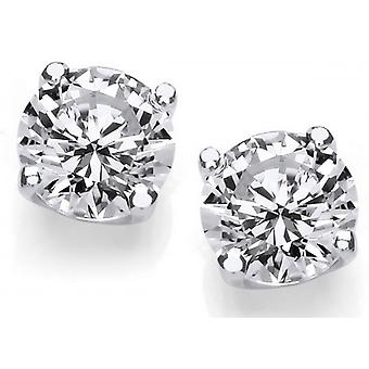 Cavendish French 1 Carat Cubic Zirconia Stud Earrings - Silver