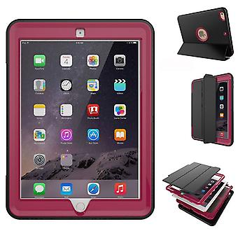 Flerdelt hybrid utendørs beskyttelsesdeksel tilfelle rosa for Apple iPad 2 kollisjonsputen våkner 3folt