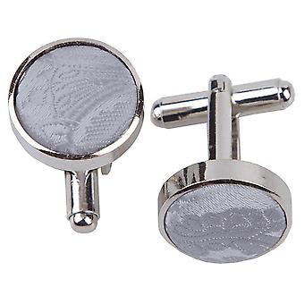 Sølv Paisley mansjettknapper