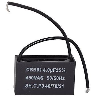 Universal 4UF/4MFD AC Motor och fläkt kondensator med sladdar 450v