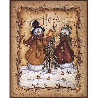 Snow Folk Hope Poster Print by Mary Ann June (8 x 10)