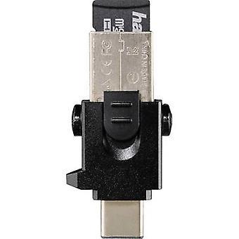 USB smartphone/table card reader USB 3.0, USB-C™ Hama 124021 Black
