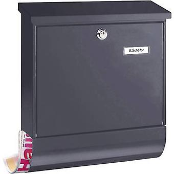Letterbox Burg Wächter 38210 VARIO 8672 ANT Steel plate Anthracite Key