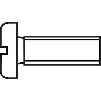 TOOLCRAFT 888670 Allen screws M1.4 10 mm Slot DIN 84 ISO 1207 Steel zinc plated 1 pc(s)