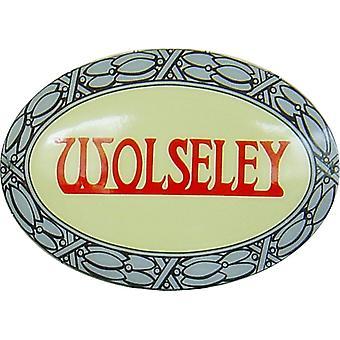 Wolseley Glaskörper emaillierten ovalen Stahl Schild (3621)