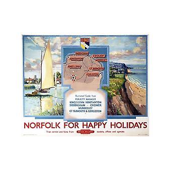 Norfolk For Happy Holidays (Old Rail Ad.) Fridge Magnet