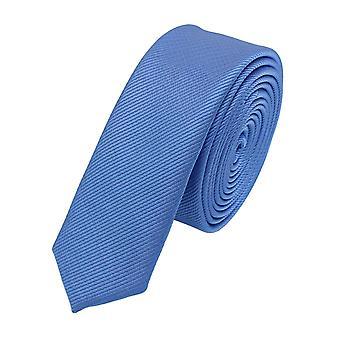Schlips Krawatte Krawatten Binder 3cm blau uni Fabio Farini