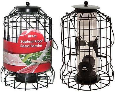 Bird Seed Feeder Squirrel Proof Wild Bird Care Feed Garden Hanging