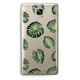 OnePlus 3 Transparent Case (Soft) - Tropical leaves