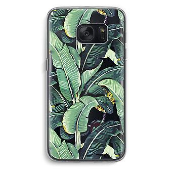 Samsung Galaxy S7 Transparent Case (Soft) - Banana leaves