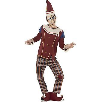 Hombres trajes bufón Halloween fuera del traje de la caja