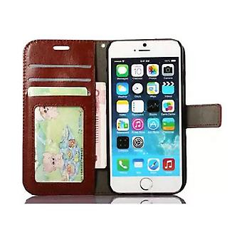 Stuff Certified ® iPhone 6 - Leather Wallet Flip Case Cover Cas Case Wallet Brown