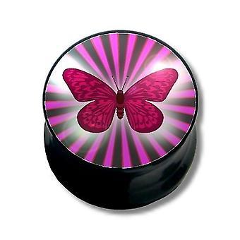 Øre Plug Piercing, krop smykker, sommerfugl | 6 - 16 mm