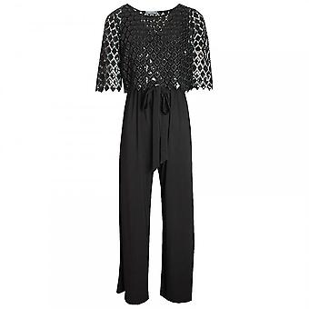 Michaela Louisa Jumpsuit With Overlay Sequin Top