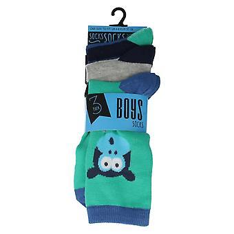Los muchachos RJM animales impresión diarias calcetines