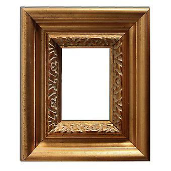 12 x 17 cm または 4 3/4 × 6 3/4 インチ、金のフレームの写真
