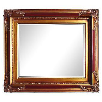 Großer Spiegel in Gold, Abmessungen 70 x 80 cm