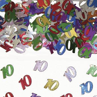Tabellen konfetti nummer 10 Deco konfetti bursdagsfest