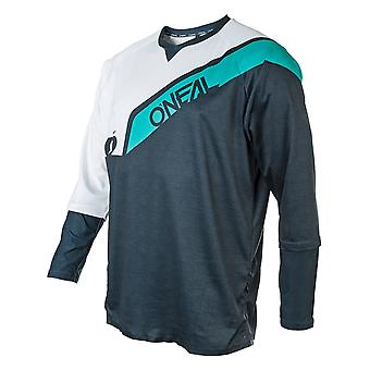 Oneal Blue-Teal 2019 Stormrider Long Sleeved MTB Jersey