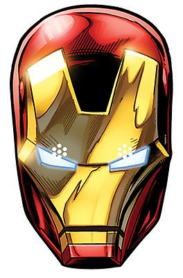 Iron Man from Marvel's The Avengers Single Card Party Face Mask