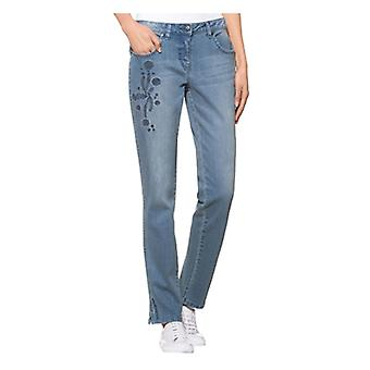 Alba Moda exclusive ladies of jeans with embroidery blue