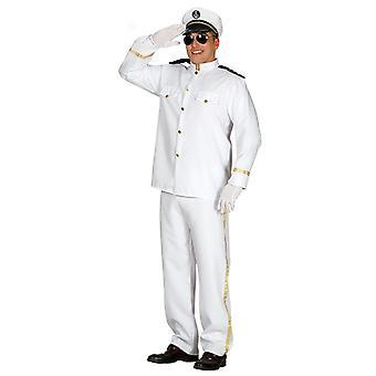Mens croisière capitaine Fancy Dress Costume