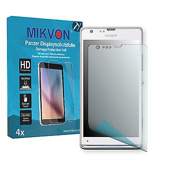 Sony Xperia M35i Screen Protector - Mikvon Armor Screen Protector (Retail Package with accessories)