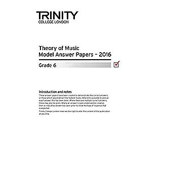 Trinity College London Theory Model Answers Paper (2016) Grade 6