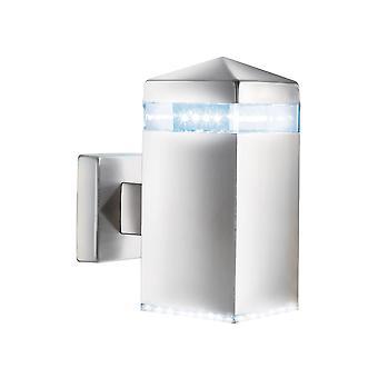 Argento satinato 32 LED parete esterna - Searchlight 7205