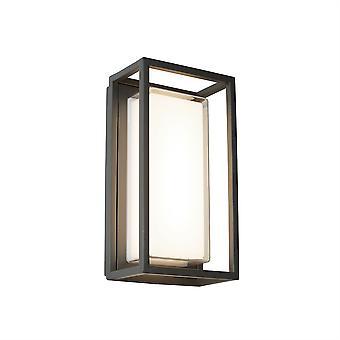 Ohio mørk grå rektangel udendørs LED væglampe - projektør 3831GY