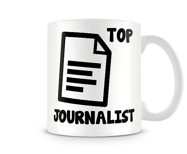 Decorative Writing Top Journalist Printed Text Mug