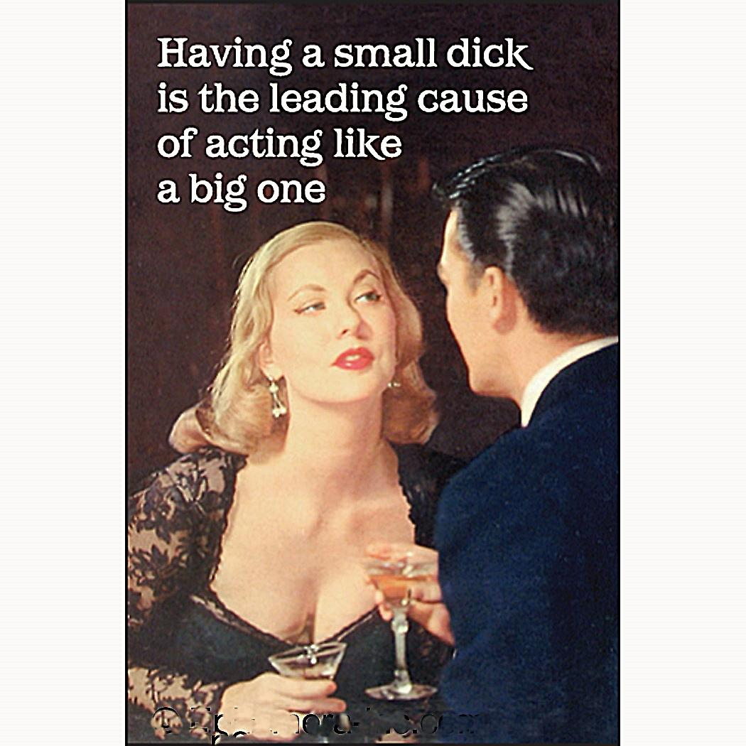Having A Small Dick.... funny fridge magnet     (ep)