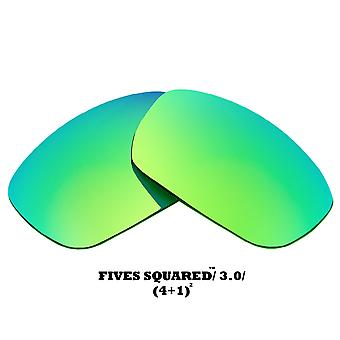 FIVES SQUARED Replacement Lenses Green Mirror by SEEK fits OAKLEY Sunglasses