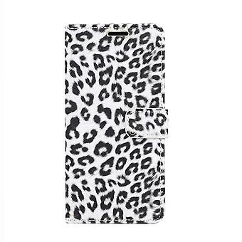 Samsung Galaxy S10e Wallet la couverture de l'affaire Leopard-blanc
