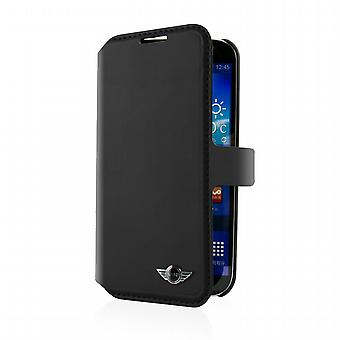 Funda Folio Negra Samsung Galaxy S5 Logo Metal Mini