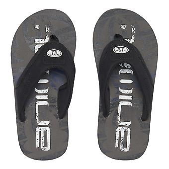 Animal Boys Jekyl Logo Flip Flops | Iron Grey