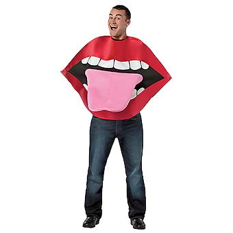 Adult Lips & Tongue Novelty Fancy Dress Costume