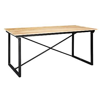 Maison Industrial Metal & Wood 6 Seater Dining Table